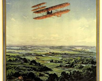 Art Print Dayton, Ohio, Aero Flying Exhibition Poster Print-  1909 8 x 10