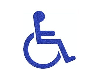 Machine Embroidery Design Instant Download - Handicap Accessible Symbol