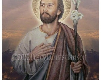 Saint Joseph, Husband of Mary, Catholic Patron Saint of Fathers #4117
