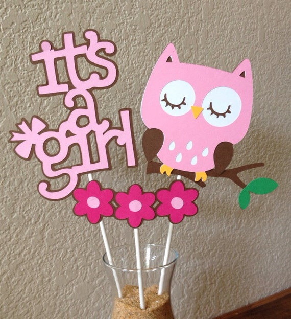 Owl Baby Shower Supplies: Items Similar To It's A Girl
