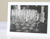 Classy Invitation Cards, Engagement Party, Bachelorette, Contemporary Photography of Wine Glasses
