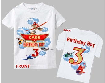 Planes Birthday Shirt - Planes Fire and Rescue Birthday Shirt