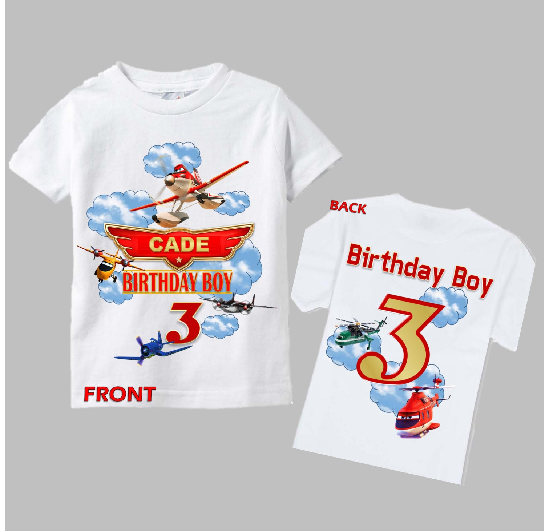 Planes Birthday Shirt Planes Fire And Rescue Birthday Shirt