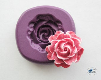 Cabbage Rose Mold/Mould -  Silicone Mold - Flower - Polymer Clay Resin Fondant