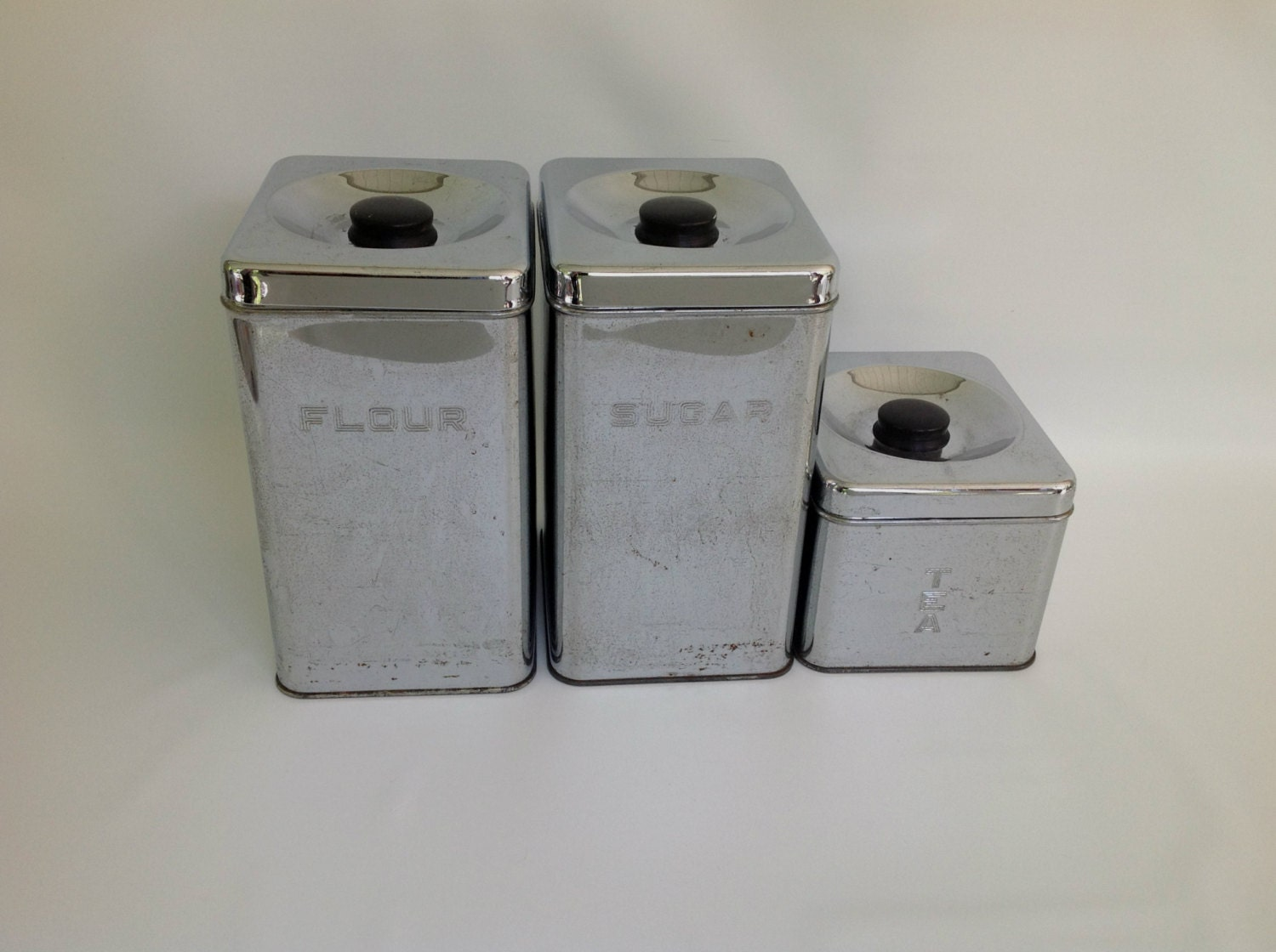 vintage chrome kitchen counter canister set by kitchen counter canisters storage containers