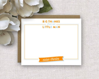 NEW! Little Man Thank You Cards. Personalized Thank You Stationery for Kids. Little Boy or Baby Boy Thank You Notes. Personalized Stationery