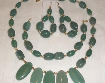 Adventurine Necklace Set