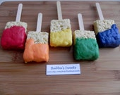 PAINT BRUSH Rice Krispy Pops (12) - COLORFUL addition to any Paint/Art Party or Construction Birthday!