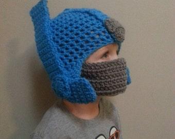 Crochet Transformer Optimus Prime hat