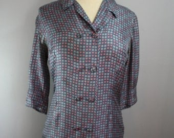 50's Dress // Floral Print // Medium