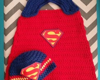 Super Man Hat and Cape Set