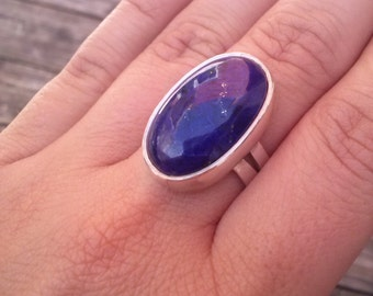 Silver 925 ring with Lapis-Lazuli