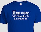 University of Kansas Basketball T-shirt, Allen Fieldhouse, Jayhawks, distressed print, college pride