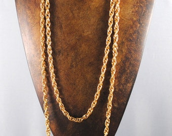 Vintage Chain Gold Plated Double Chain