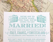 The Jasmine Suite - Letterpress  Elopement Announcement - Sample