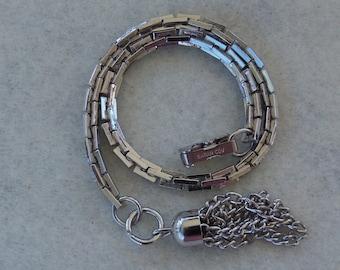 Sarah Coventry Bostonian Classic Bracelet Silvertone 9029   Vintage, Tassel
