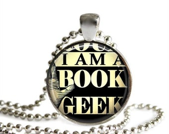 Book pendant necklace book club gift for book lover literary gift book club favors vintage book poster loves reading.