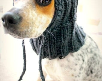 Custom knit dog hat, dog hoodie, pet scarf, pet clothes, dog cowl