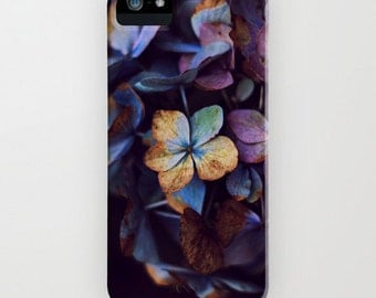 Phone Case -  Hydragena Dream 5 4 4s 3g 3gs - Samsung Galaxy S4 - ipod touch - flower floral lilac fantasy black