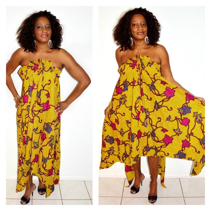 African dress yellow wedding dress ankara dress strapless for African dress styles for weddings