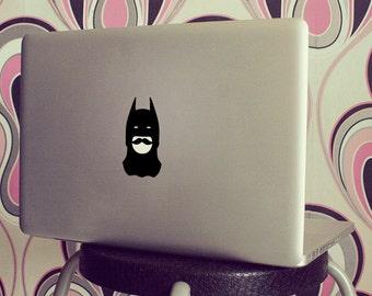 Batman Mustache decal sticker for mac laptoop.
