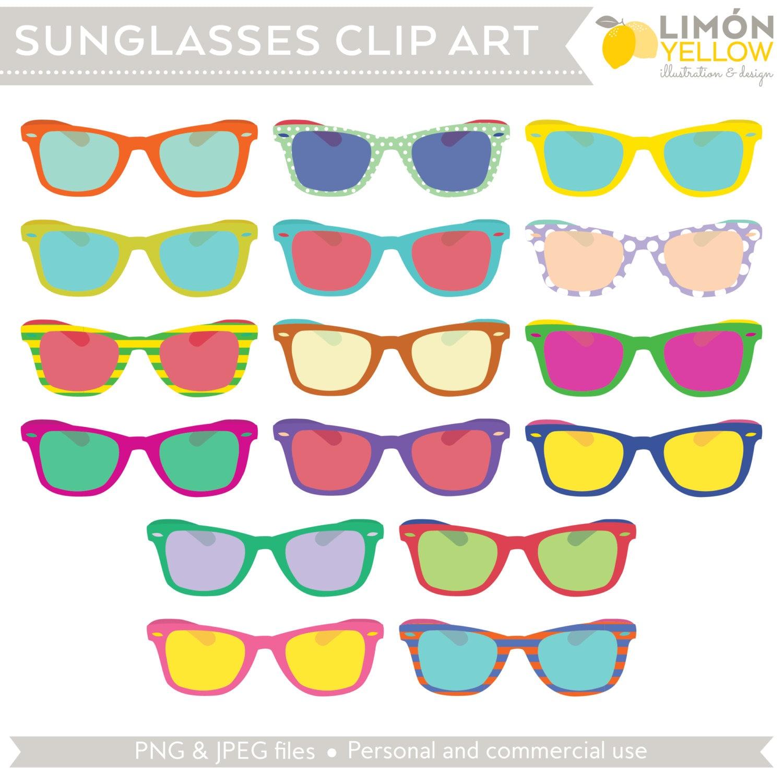 Sunglasses Clip Art (Royalty Free) Retro Vintage Summer ...