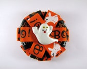 Ghost Halloween Hair Bow for Trick or Treating, Fall Photo Prop or Birthday Gift/Present, Boo Ghost Hair Accessory, Halloween Barrette Clip