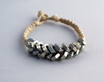 Zinc Hex Nut - Hemp Bracelet