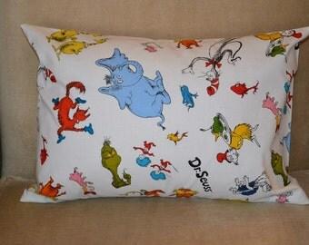 Travel Pillow Case / Child Pillow Case DR SEUSS CHARACTERS