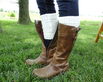 Ribbed Sweater Boot Cuffs for Women - Boot Toppers