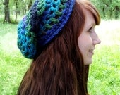 Northern Lights Adult-Sized Crochet Slouchy Hat - Taking Orders