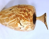 Hand turned wooden lidded  hollow form/burial urn made of Spalted Birch