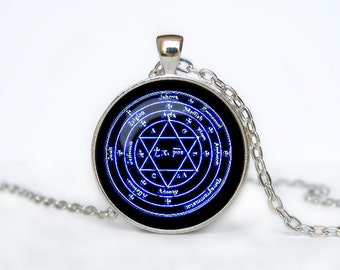 Alchemical magic sign pendant Alchemical magic sign necklace Alchemical jewelry pentagram