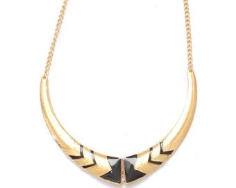 Gold egyptian bib statement necklace jewellery