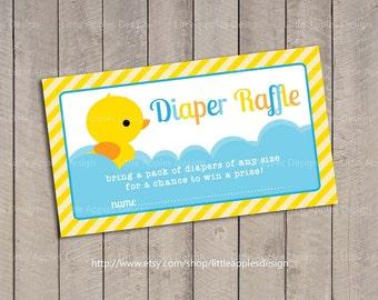 Baby Shower Diaper Raffle Tickets / Rubber Duck Baby Shower Diaper Raffle Tickets / Rubber Duck Baby Shower Printables - INSTANT DOWNLOAD