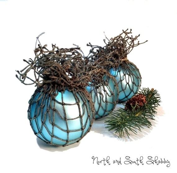 Beach Ornament, Nautical Bowl Filler Seaside Home Decor Fishing Float Inspired Coastal Home Decor