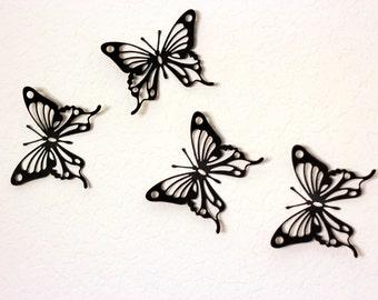 Black Wall Art, Butterfly wall decor, Black butterflies, Nursery Wall Art, Kids Wall decor, Paper butterflies, Black Wall decor, Butterfly