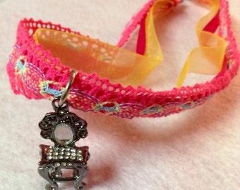 Princess vanity charm necklace