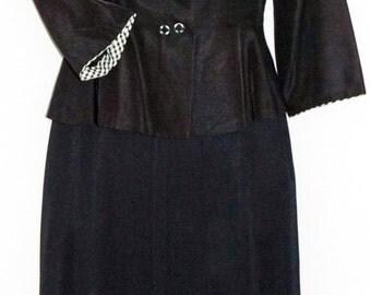 1950s Womens Suit Sz 6 Vintage Retro
