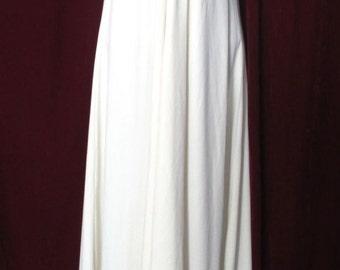 Stunning Vintage handmade cream, tie halter evening gown, maxi dress