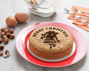 Holiday party decor - christmas cake decoration Merry Christmas Round stencil cake H021 Round stencil for cake decoration