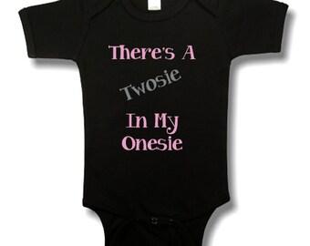 Twosie In My Onesie Funny Baby Bodysuit