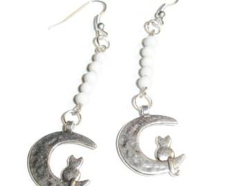 Sitting on the Moon Earrings