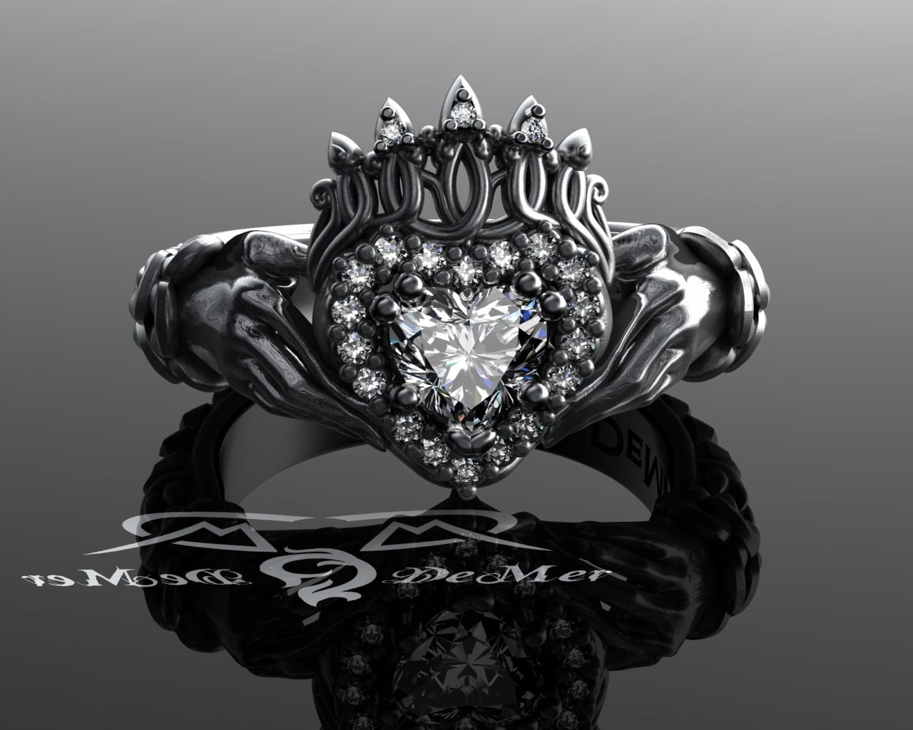 claddagh ring with celtic knot work weave in solid platinum. Black Bedroom Furniture Sets. Home Design Ideas