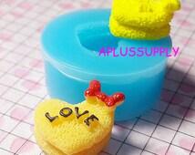QYL022 Kawaii Cake Mold Heart LOVE Bow Flexible Silicone Mold Miniature Sweets Deco Fimo Polymer Clay Charms Resin Wax Fondant