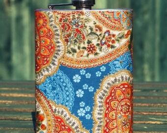 Vintage Floral 8 oz. Flask
