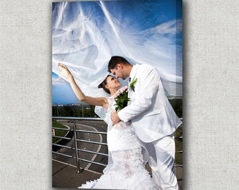 Wedding Photos to Canvas. Gallery Wrapped Canvas ready to hang on your wall as a Modern Art.