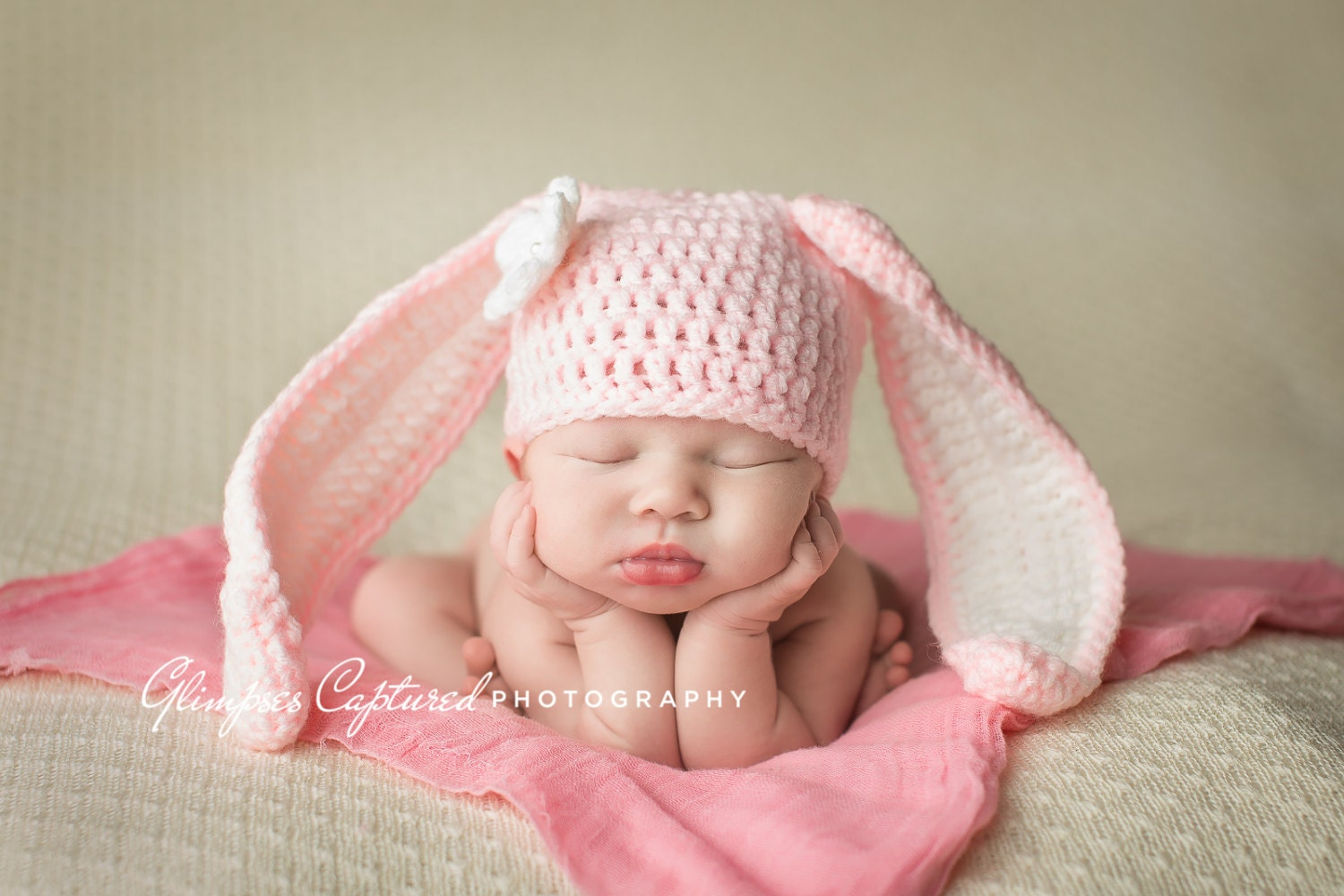 Crochet Bunny Hat With Flower Pattern : Crochet Bunny Hat Crochet Baby Bunny Hat Bunny Photo Prop