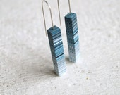 Dangle earrings Stick earrings Modern earrings Modern jewelry Contemporary jewelry Ombre earrings Geometric earrings Minimalist earrings