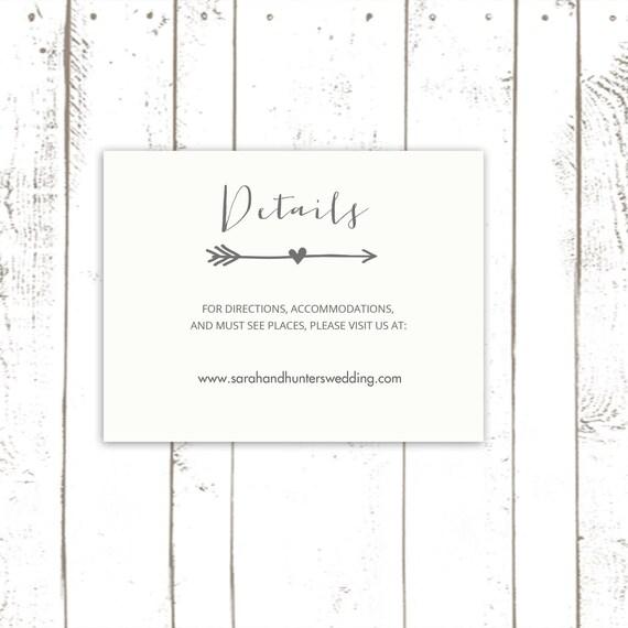 Wedding Enclosure Cards For Arrow Wedding By MooseberryPaperCo